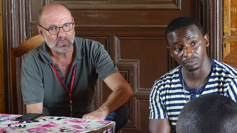 Didier CADELLI and Fridolin Nzambimana during the scoping meeting